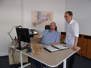 Unsere Regionalmanager Herr Scheller und Herr Worbs (v.l.n.r.)